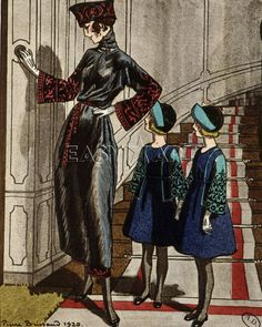 Afternoon dress and children's dresses by Jeanne Lanvin Art Print by Anonymous Easyart.com
