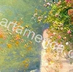 Bloomed Alley Painting by Antonietta Varallo