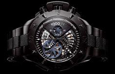 Zenith Defy Xtreme: para aqueles que gostam de coisas mais radicais, que tal um relógio feito em titânio preto com kevlar na pulseira?