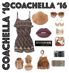 """Coachella 16"" by whatisshewearing ❤ liked on Polyvore featuring LE3NO, Qupid, Sans Souci, STELLA McCARTNEY, Forever 21, Panacea, Lime Crime and Casetify"