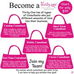 Thirty-One has all different types of consultants. Which one are you?