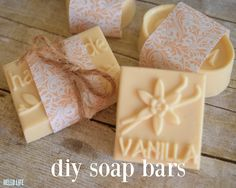 """Nothing says """"I appreciate you"""" more than a handmade gift. Taking time out of your busy lifeto dedicate to making something special for someone you care about shows that they are worth giving ofyour most precious resource, your time! DIY Soap Bars by MichaelsMakers Hello Life on Line"""