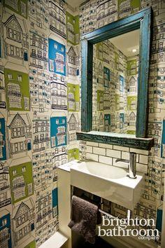 The Brighton Bathroom Company offer unique, personalised luxury bathroom Design, Supply & Installation. Get a free, no obligation design consultation today. Luxury Bathroom, Funky Wallpaper, Bathroom Design, Downstairs Loo, Bathroom Wallpaper, Wc Ideas, Funky Bathroom, Bathroom Design Luxury, Bathroom Companies