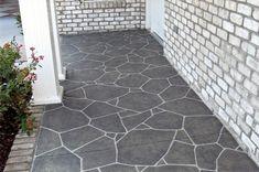 paint concrete patio to look like slate - Google Search