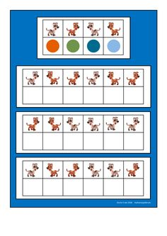 Board for the dog visual perception game. Find the belonging tiles on Autismespektrum on Pinterest. By Autismespektrum