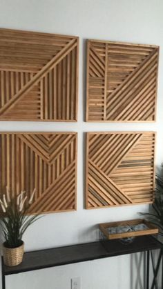 Furniture Projects, Home Projects, Diy Furniture, Home Room Design, Home Interior Design, Diy Crafts For Home Decor, Diy Wall Art, Cool Wall Decor, Wooden Wall Decor