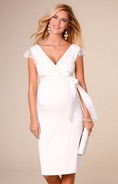 Rosa Maternity Wedding Dress Ivory by Tiffany Rose