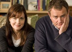 Elizabeth McGovern and on screen hubby Hugh Bonneville