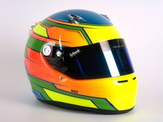 Colorful #helmade #motorsport design. #neon #blueflakes #colorbomb  Create your own on www.helmade.com