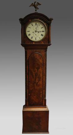 Antiques Atlas - Scottish Victorian Mahogany Grandfather Clock