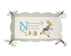 Package contains 2 self-assemble food platters that feature the classic lines and illustrations of Beatrix Potter and are finished with a stylish patterned scollop edge and embellished with stripy string. Platter size: 8 x 15 x 2 inches.