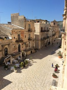 Streets in Scicli, Sicily - where scenes for the television series Inspector Montalbano were shot