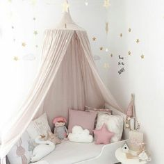 Baby Room Decoration Home Bed Curtain Round Crib Netting Baby Tent Cotton Hung Dome Baby Mosquito Net Photography Props - PINkart. Baby Bedroom, Baby Room Decor, Girls Bedroom, Nursery Decor, Room Girls, Bedroom Ideas, Bedroom Decor, Nursery Curtains, Baby Girl Nurserys