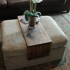 Handmade ottoman sofa cushion wrap tray table. The perfect addition to a ottoman or sofa cushion in any home, apartment, condo, or man cave. It has
