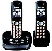 Panasonic DECT 6.0 PLUS Expandable Digital Cordless Telephone with Answering System with 2 handsets