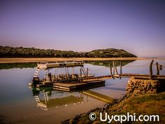 Sibuya Game Reserve, Jetty from where you start exploring the surrounding river life. http://www.uyaphi.com/south-africa/lodges/sibuya-game-reserve.htm