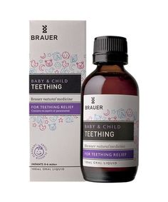 Baby & Child Teething 100mL- Baby & Child Teething includes ingredients such as soothing Chamomile, which is traditionally used in homeopathic medicine to help temporarily relieve the pain, discomfort and irritability of teething. Baby & Child Teething may be used from birth: the natural blackcurrant flavour and included oral measuring dropper make it easy to give to your baby.