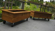 planters on casters for the yard could create any number of external spaces depending on what the yard is being used for.
