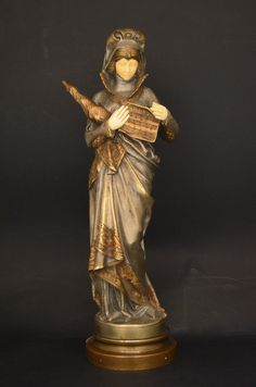 Art Nouveau, Estilo Art Deco, Antique Lamps, Pattern Design, Sculpture, Antiques, Female, Antiquities, Ivory