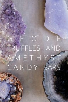 Geode Truffles and Amethyst Candy Bars. Check out this story by Doug And Beca on Steller for the recipes and how to make these! Fudge, Geode Cake, Homemade Candies, Candy Making, Sugar Art, Cake Tutorial, Edible Art, Melting Chocolate, Cake Decorating