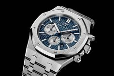 Audemars Piguet Royal Oak Chronograph Marks 20 Years with New Two-Tone-Dial Models Audemars Piguet Watches, Audemars Piguet Royal Oak, Ap Royal Oak, Hand Watch, Stainless Steel Bracelet, Breitling, Luxury Watches, Chronograph, Rolex