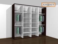 Ukázka vnitřního uspořádání vestavěné skříně - 20. varianta