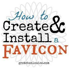 How to Create  Install a Favicon via @GretLouise