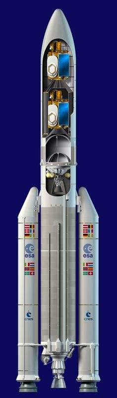 Ariane 5 ME /by ESA #Ariane5 #illustration