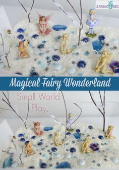Small world play - magical fairy wonderland - I would have loved this as a kid!
