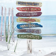 Door Signs - Maybe out of Canoe Padles? - tropical outdoor decor Beach Signs on a Stake Seaside Decor, Beach House Decor, Coastal Decor, Beach House Signs, Home Decor, Tropical Outdoor Decor, Outdoor Beach Decor, Outdoor Ideas, Deco Surf