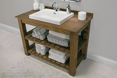 Save some serious cash when remodeling with DIY bathroom vanity projects! Easier than they look, these DIY vanity ideas have step by step instructions! Wooden Bathroom Vanity, Rustic Vanity, Diy Vanity, Vanity Sink, Vanity Ideas, Bathroom Mirrors, Vanity Cabinet, Vanity Units, Small Bathroom Vanities