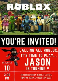This Listing Includes The Following DIGITAL Roblox Themed Birthday Party Supplies One Custom