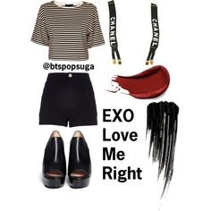 EXO Love Me Right inspired outfits Part 1/9 by alinamauh on Polyvore featuring polyvore fashion style TIBI River Island Robert Clergerie Chanel Urban Decay