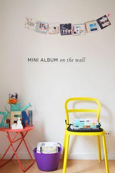 Mini album garland