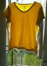 Yellow Long Sleeve Workout Shirt