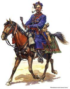 Ukrainian army XVII century:  Registered Cossacks from the horse-hundred