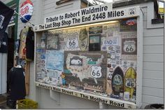 Some tucked away Route 66 info located where else but the Pier!