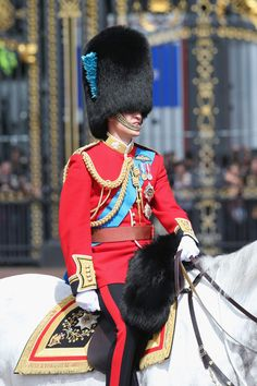 June 2013 - The British Nobility: Prince William, Duke of Cambridge during the annual Trooping the Colour Ceremony at Buckingham Palace in London, England. Prince William And Catherine, Prince Philip, Prince Charles, Prince Harry, Diana Spencer, Principe William Y Kate, Queen's Official Birthday, Trooping Of The Colour, British Nobility
