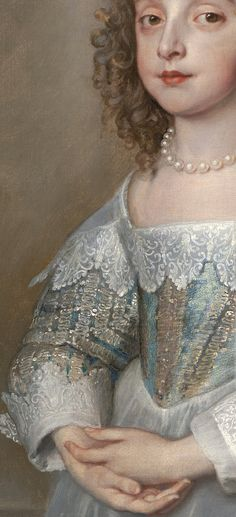 Princess Mary Stuart, Daughter of Charles I by Sir Anthonis van Dyck, 1641, detail