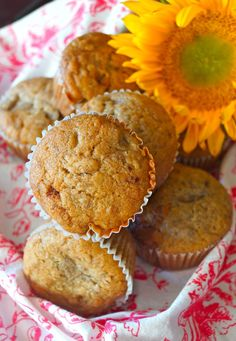 Honey Spiced Banana Muffins not only a lovely breakfast with coffee, but they double as dessert! They're warmly spiced, honey-sweetened and oh-so-delicious!