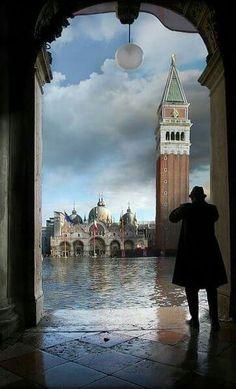 Place Saint Marc, Venise, Italie.