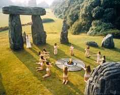 Pagan Ceremonial Place (The Wicker Man Ingrid Pit Naked Pagan Ritual Wicker Man, Handfasting, Horror Films, Classic Films, Scary Halloween, Wiccan, Mother Nature, Creepy, Naked