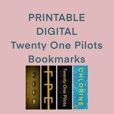 Digital copy of Twenty One Pilots inspired bookmarks