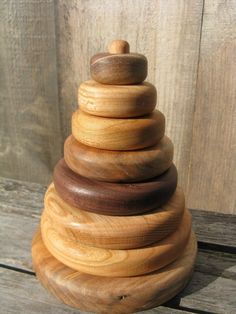 Wooden Ring Stacker - Stacking Rings - Stacking Toy