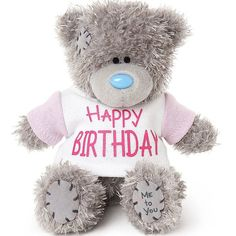 This Happy Birthday Tatty Teddy will make a cute birthday keepsake gift for all ages. Order your Me to You teddy bear online for fast UK delivery. Happy Birthday Rebecca, Happy Birthday Me, Gifts For 18th Birthday, 21st Birthday, 60th Birthday Balloons, Teddy Bear Online, Teddy Bear Quotes, Tatty Teddy, Teddybear
