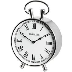 Featuring a chrome finish, which enables it to brighten up your home, the Chrome table clock will make for the perfect bedside table piece or even for your side or coffee table. Large Mantel Clocks, Antique Mantel Clocks, Mantle Clock, French Clock, Carriage Clocks, Retro Clock, Hill Interiors, Luxury Loft, Traditional Interior