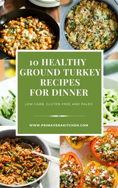 These 10 Healthy Ground Turkey Recipes are all low-carb, gluten-free and they will be ready in less than 30 mins. Choose your favourite and make it today!