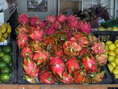 Pitaya fruit art St Paul Market