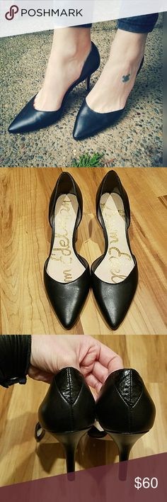"""Perfect, SAM EDELMAN, sexpot heels!! Look great dressed up or down. Size is 7.5. 3"""" heel. Some minor marks and scuffs. Haven't tried to polish or clean. Still in great pre owned  condition. Sam Edelman Shoes Heels"""