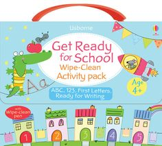 Get Ready for School Wipe-Clean Activity Pack 4